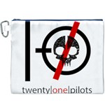 Twenty One Pilots Skull Canvas Cosmetic Bag (XXXL) Front