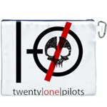 Twenty One Pilots Skull Canvas Cosmetic Bag (XXXL) Back