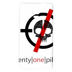 Twenty One Pilots Skull Galaxy Note 4 Back Case