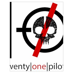 Twenty One Pilots Skull Drawstring Bag (large)