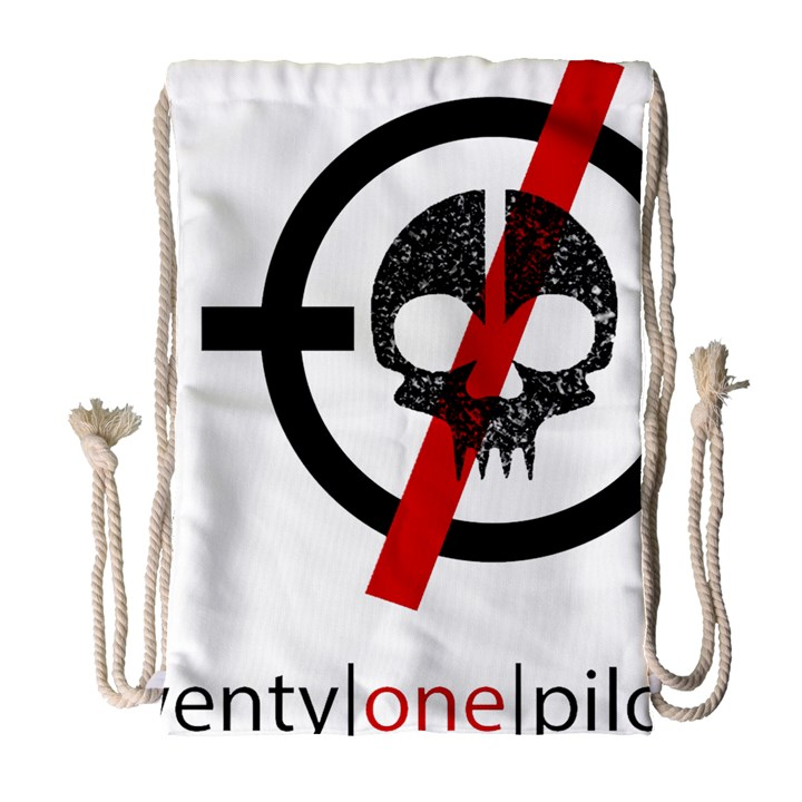 Twenty One Pilots Skull Drawstring Bag (Large)