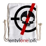Twenty One Pilots Skull Drawstring Bag (Large) Back