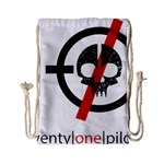 Twenty One Pilots Skull Drawstring Bag (Small) Back