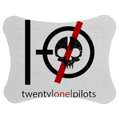 Twenty One Pilots Skull Jigsaw Puzzle Photo Stand (Bow)