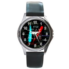 Twenty One Pilots Stay Alive Song Lyrics Quotes Round Metal Watch