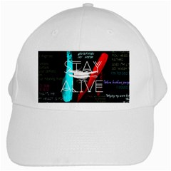 Twenty One Pilots Stay Alive Song Lyrics Quotes White Cap