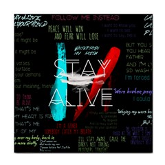Twenty One Pilots Stay Alive Song Lyrics Quotes Tile Coasters