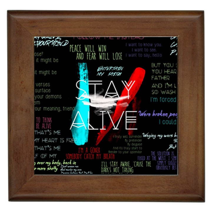 Twenty One Pilots Stay Alive Song Lyrics Quotes Framed Tiles