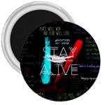 Twenty One Pilots Stay Alive Song Lyrics Quotes 3  Magnets Front