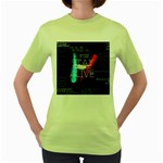 Twenty One Pilots Stay Alive Song Lyrics Quotes Women s Green T-Shirt Front