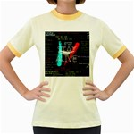Twenty One Pilots Stay Alive Song Lyrics Quotes Women s Fitted Ringer T-Shirts Front