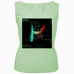 Twenty One Pilots Stay Alive Song Lyrics Quotes Women s Green Tank Top