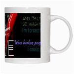 Twenty One Pilots Stay Alive Song Lyrics Quotes White Mugs Right