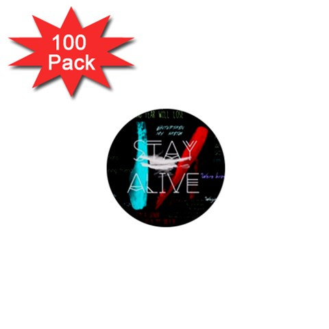 Twenty One Pilots Stay Alive Song Lyrics Quotes 1  Mini Buttons (100 pack)