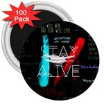Twenty One Pilots Stay Alive Song Lyrics Quotes 3  Magnets (100 pack) Front