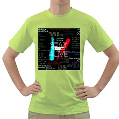 Twenty One Pilots Stay Alive Song Lyrics Quotes Green T-Shirt