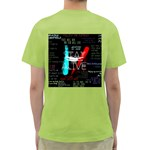 Twenty One Pilots Stay Alive Song Lyrics Quotes Green T-Shirt Back