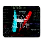 Twenty One Pilots Stay Alive Song Lyrics Quotes Large Mousepads Front