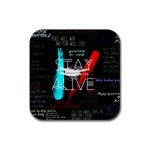 Twenty One Pilots Stay Alive Song Lyrics Quotes Rubber Square Coaster (4 pack)  Front