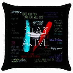 Twenty One Pilots Stay Alive Song Lyrics Quotes Throw Pillow Case (black)