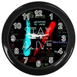 Twenty One Pilots Stay Alive Song Lyrics Quotes Wall Clocks (Black) Front