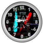 Twenty One Pilots Stay Alive Song Lyrics Quotes Wall Clocks (Silver)  Front