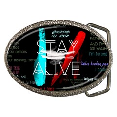 Twenty One Pilots Stay Alive Song Lyrics Quotes Belt Buckles