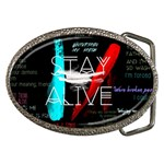 Twenty One Pilots Stay Alive Song Lyrics Quotes Belt Buckles Front