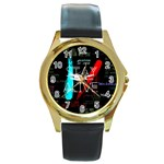 Twenty One Pilots Stay Alive Song Lyrics Quotes Round Gold Metal Watch Front