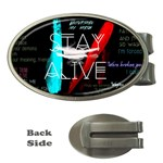Twenty One Pilots Stay Alive Song Lyrics Quotes Money Clips (Oval)  Front