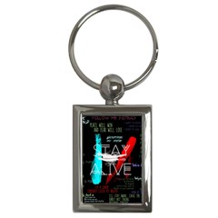 Twenty One Pilots Stay Alive Song Lyrics Quotes Key Chains (Rectangle)