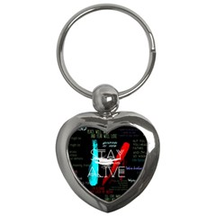 Twenty One Pilots Stay Alive Song Lyrics Quotes Key Chains (Heart)