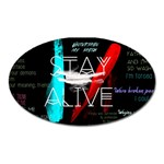 Twenty One Pilots Stay Alive Song Lyrics Quotes Oval Magnet Front