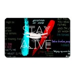 Twenty One Pilots Stay Alive Song Lyrics Quotes Magnet (Rectangular) Front