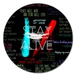 Twenty One Pilots Stay Alive Song Lyrics Quotes Magnet 5  (Round) Front