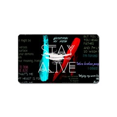 Twenty One Pilots Stay Alive Song Lyrics Quotes Magnet (Name Card)