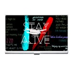 Twenty One Pilots Stay Alive Song Lyrics Quotes Business Card Holders Front