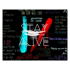 Twenty One Pilots Stay Alive Song Lyrics Quotes Rectangular Jigsaw Puzzl