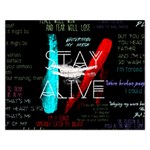 Twenty One Pilots Stay Alive Song Lyrics Quotes Rectangular Jigsaw Puzzl Front