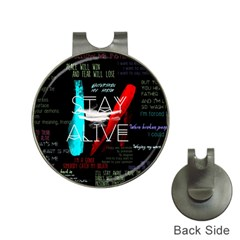 Twenty One Pilots Stay Alive Song Lyrics Quotes Hat Clips with Golf Markers