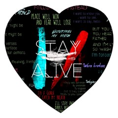 Twenty One Pilots Stay Alive Song Lyrics Quotes Jigsaw Puzzle (heart)