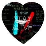 Twenty One Pilots Stay Alive Song Lyrics Quotes Jigsaw Puzzle (Heart) Front