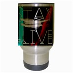 Twenty One Pilots Stay Alive Song Lyrics Quotes Travel Mug (Silver Gray) Center