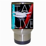 Twenty One Pilots Stay Alive Song Lyrics Quotes Travel Mugs (White) Center