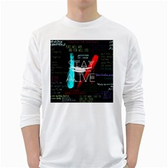 Twenty One Pilots Stay Alive Song Lyrics Quotes White Long Sleeve T Shirts