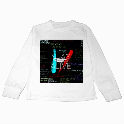 Twenty One Pilots Stay Alive Song Lyrics Quotes Kids Long Sleeve T-Shirts