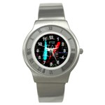 Twenty One Pilots Stay Alive Song Lyrics Quotes Stainless Steel Watch Front