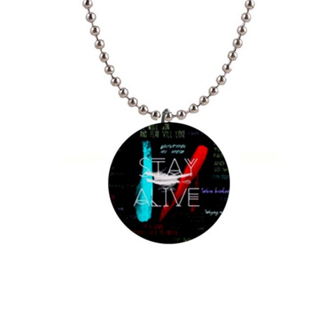 Twenty One Pilots Stay Alive Song Lyrics Quotes Button Necklaces