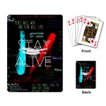 Twenty One Pilots Stay Alive Song Lyrics Quotes Playing Card Back