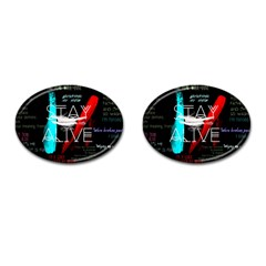 Twenty One Pilots Stay Alive Song Lyrics Quotes Cufflinks (oval)